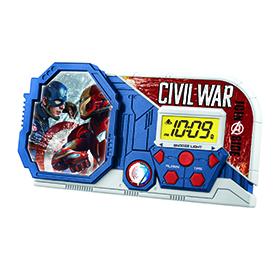 Captain America Civil War Night Glow Alarm Clock Image