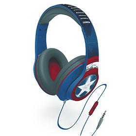 Captain America Civil War Star Headphones Image